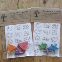 DIY 100% Recycled Crayon & Sticker Sets