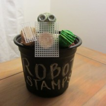 Potted Robot Planter Stamps